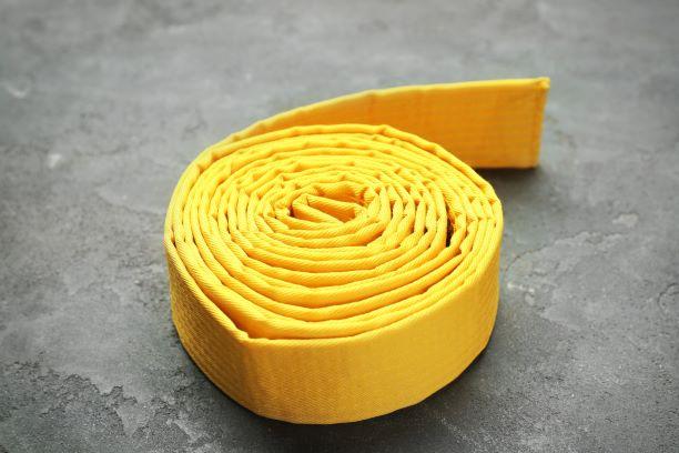 Yellow karate belt